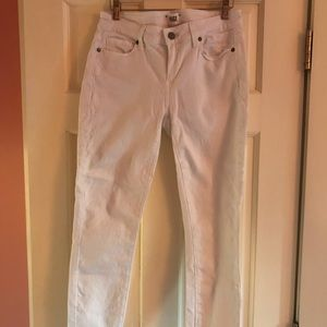 Paige white jeans gently worn